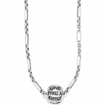 Family Love Long Charm Necklace