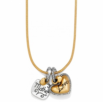 Golden Heart Charm Necklace