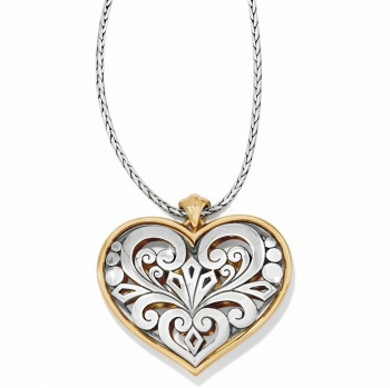 Roccoco Heart Reversible Necklace