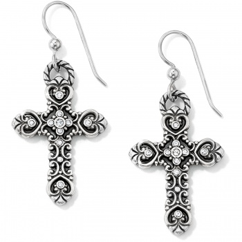 Isabella Cross French Wire Earrings