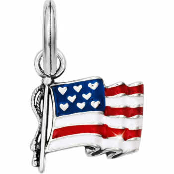 Brighton Treasures Flag Of Freedom Charm
