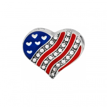 Brighton Treasures Hearts & Stripes Bead