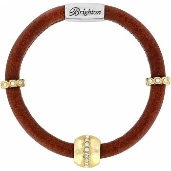 Woodstock Glimmer Leather Bracelet