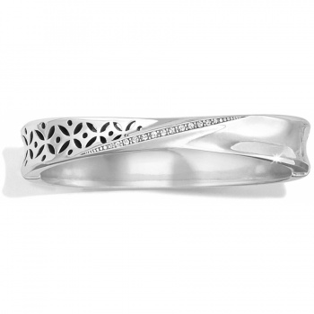 Geo Twirl Shine Slim Hinged Bangle