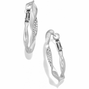 Geo Twirl Shine Hoop Earrings