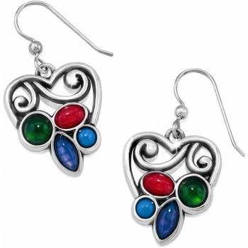Mother Earth Heart French Wire Earrings