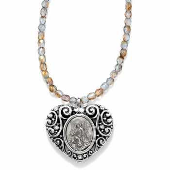 Guardian Angel Heart Necklace