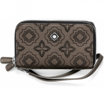 Octavia Perforated Octavia Perf Double Zip Tech Wallet