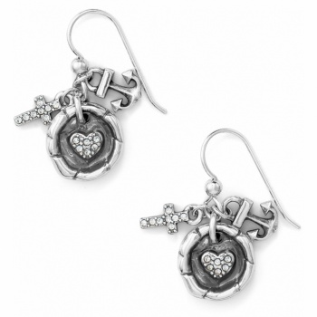 Faith Hope Charity French Wire Earrings