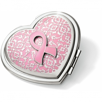 Power Of Pink Heart Compact Mirror