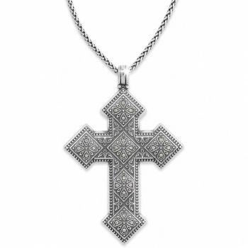 Mumtaz Cross Convertible Long Necklace