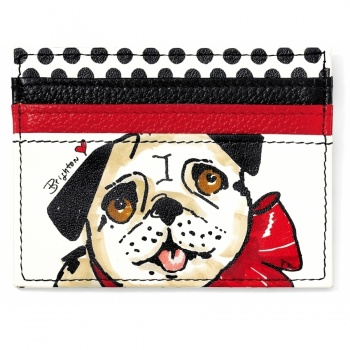 Fashionista Paris Pug Card Case