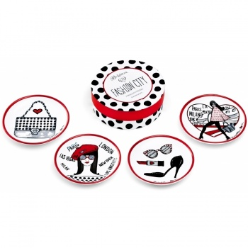 Fashion City Fashion City Coaster Set