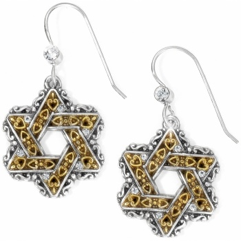 Star Of David French Wire Earrings