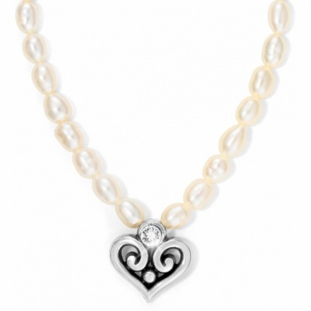 Alcazar Alcazar Heart Pearl Necklace