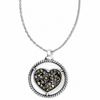 Crystal Rocks Heart Necklace