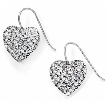 Lustrous Heart French Wire Earrings