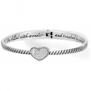 Celestia Heart Hinged Bangle
