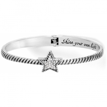 CELESTIA HEART Celestia Star Hinged Bangle