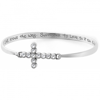 U R Loved Cross Squeeze Bangle