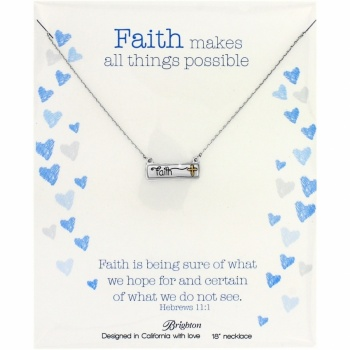 Note Tags Faith Necklace