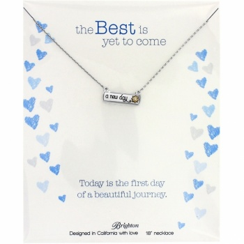 Note Tags A New Day Necklace