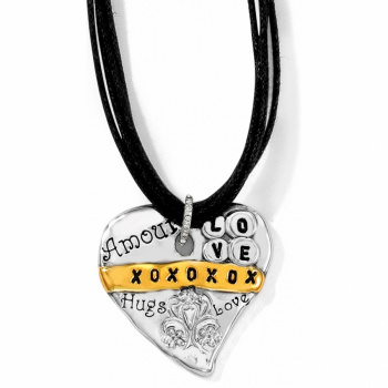 Love Quotes Hugs Necklace