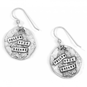 Love Quotes Dreams French Wire Earrings
