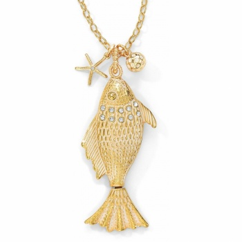 Marine Gold Fish Convertible Necklace
