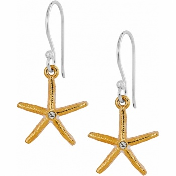 Marine Gold Star French Wire Earrings