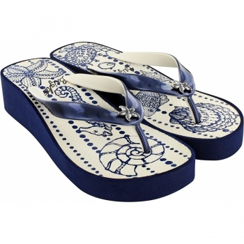 Seascape Bubble Platform Flip Flop