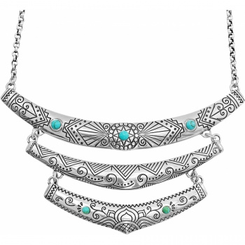 Navajo Triple Etched Necklace