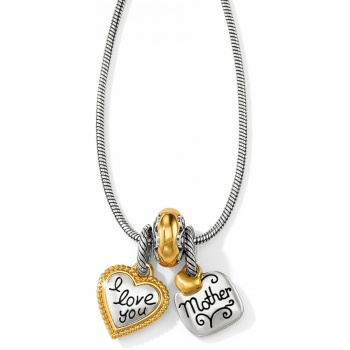 Love You Mom Charm Necklace