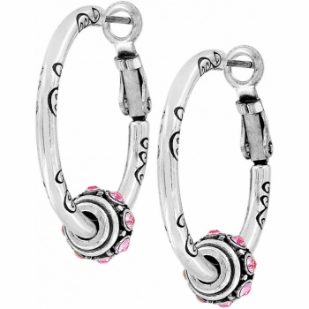 Glam Small Hoop Charm Earrings