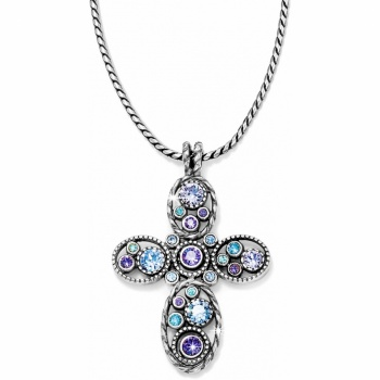 Halo Halo Cross Necklace
