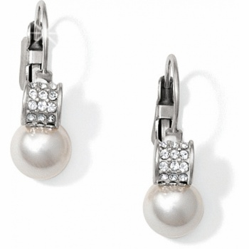 Meridian Pearl Leverback Earrings