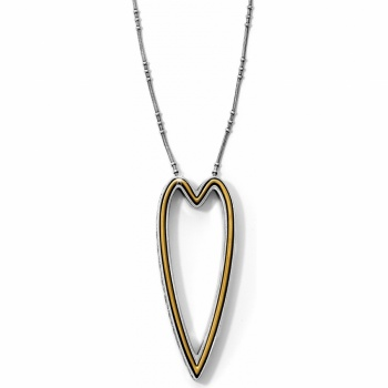 Magna Magna Heart Long Reversible Necklace
