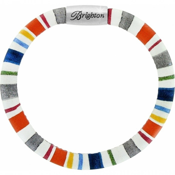 Woodstock Woodstock Napa Stripe Single Leather Bracelet