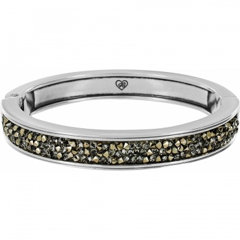 Crystal Rocks Slim Hinged Bangle