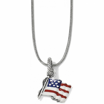 Flag of Freedom Charm Necklace