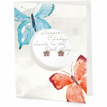 Pretty Petite Happiness Card Earrings