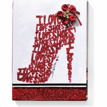 I Love Shoes Glitter Notepad