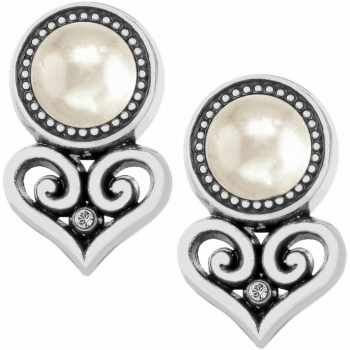 Alcazar Alcazar Heart Pearl Post Earrings