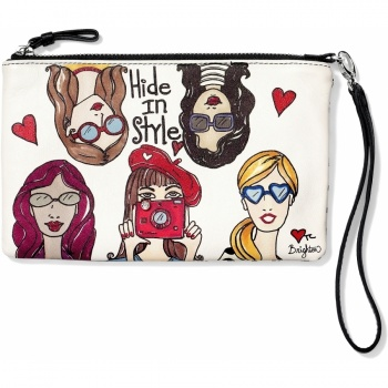 Fashionista Hide In Style Wristlet Pouch