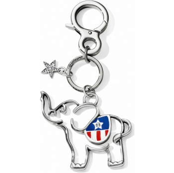 Pampered Pets Patriotic Elephant Handbag Fob