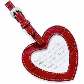 Traveling Heart Luggage Tag