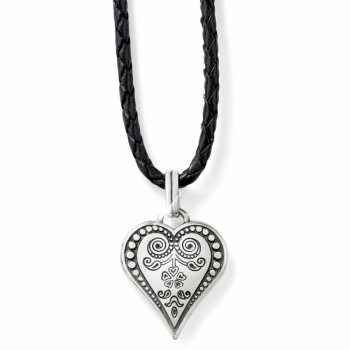 Ophelia Heart Leather Necklace