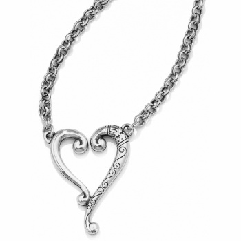 Tuscan Etched Heart Necklace