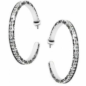 Secret Of Love Hoop Post Earrings
