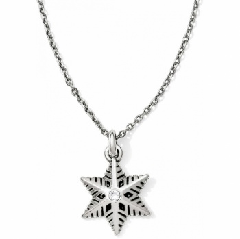 Merry & Bright Sparkle Snowflake Petite Necklace